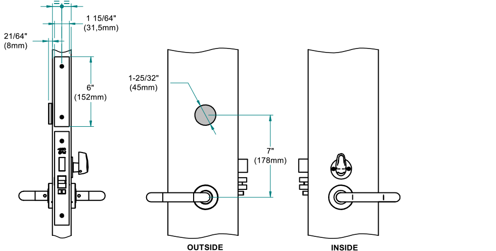 Ælement Fusion - ANSI Technical drawing