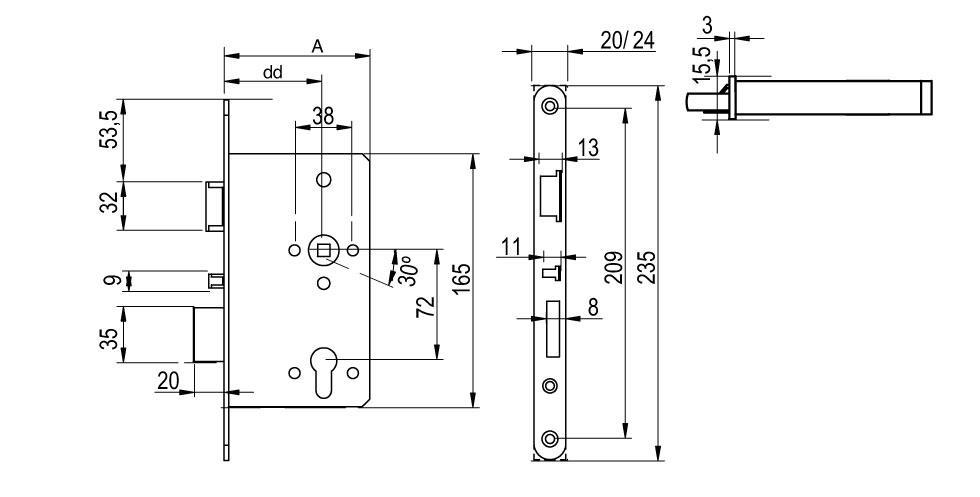 LE7W Technical Drawing