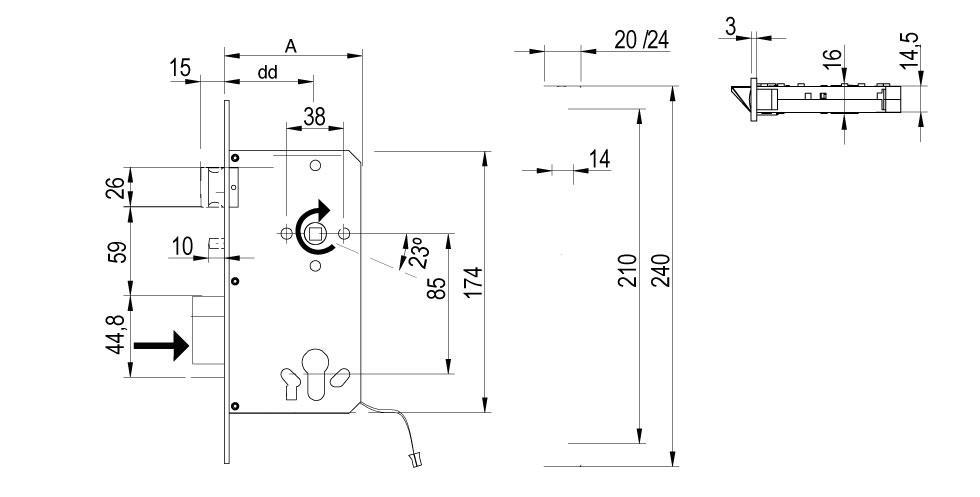 LE8P Technical Drawing
