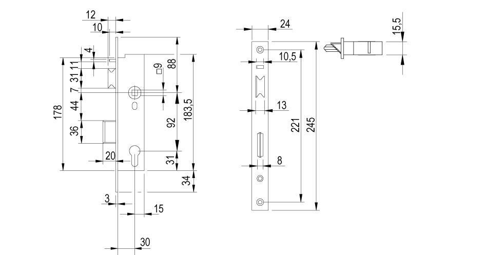 LE9W Technical Drawing