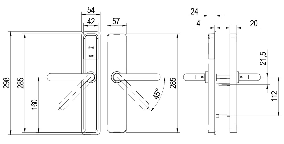 XS4 One - DIN Technical Drawing
