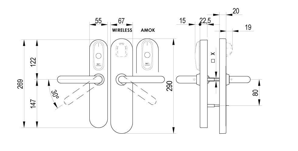 XS4 Original - DIN Technical Drawing