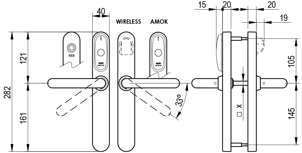 XS4 Original - EU Technical Drawing