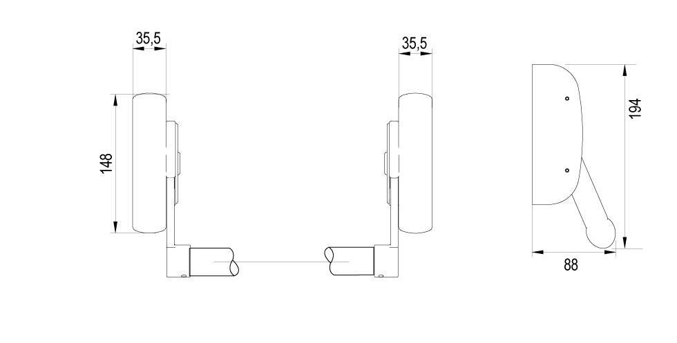 XS4 PBA1200 Technical Drawing