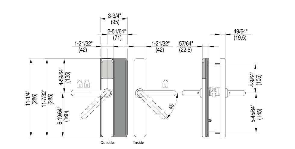 XS4 One DL Technical Drawing